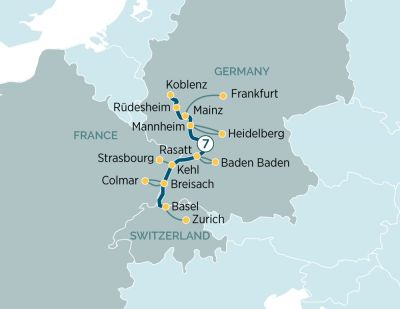 Map for The Majestic Rhine