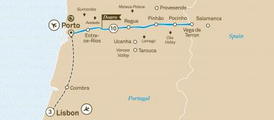 Map for Unforgettable Douro with Lisbon