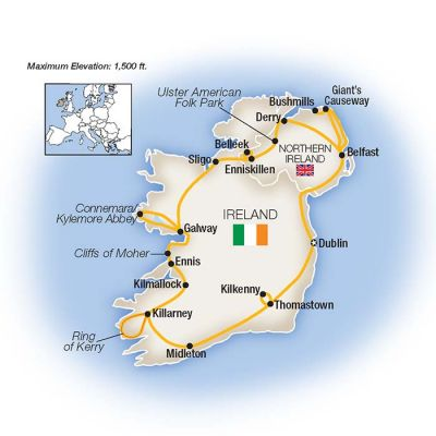 Map for The Best of Ireland