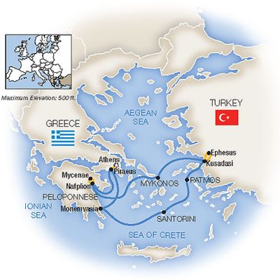 Map for Treasures of the Aegean