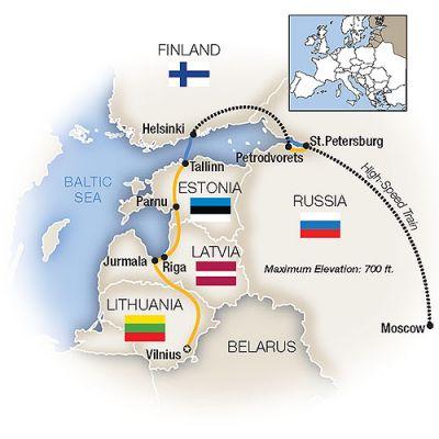 Map for Russian Glories, Baltic Treasures