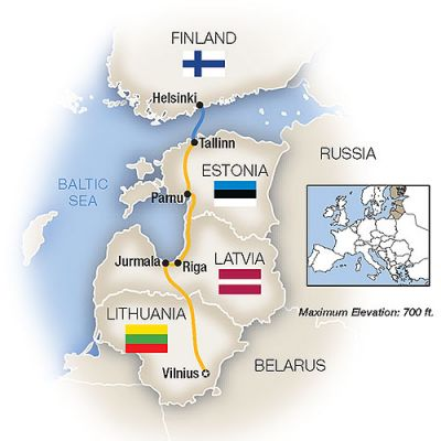 Map for A Week In... The Baltics