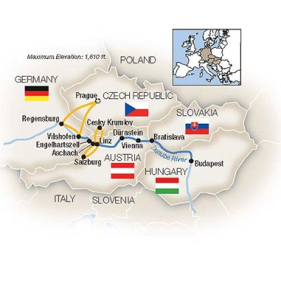 Map for The Blue Danube - Eastbound