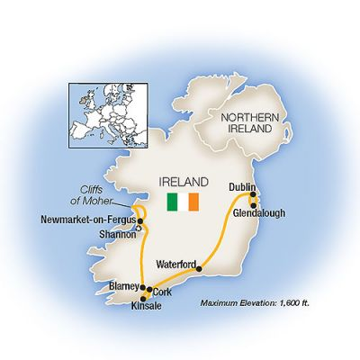 Map for A Week In... Ireland