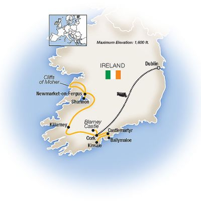 Map for Ireland Forever