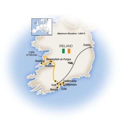 Map for Ireland Forever