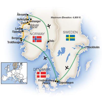 Map for Scandinavia