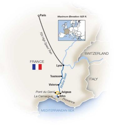 Map for Bon Voyage! France Family River Cruise