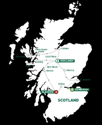 Map for Best of Scotland Summer 2019