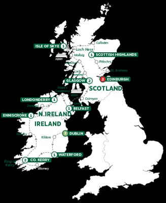 Map for Best of Ireland and Scotland Summer 2019