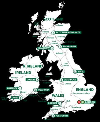 Map for Britain and Ireland Panorama Summer 2019