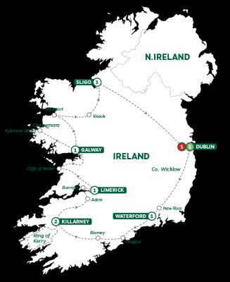 Map for Best of Ireland Summer 2019