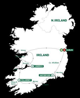 Map for Irish Highlights Summer 2019