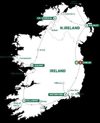 Map for Amazing Ireland Summer 2019