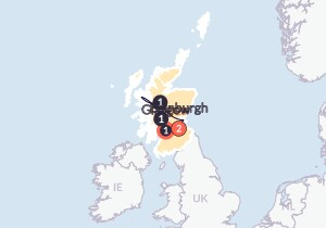 Map for Scotland