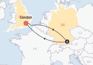 Map for Oktoberfest - 7 Days Hostel (Start/End London)