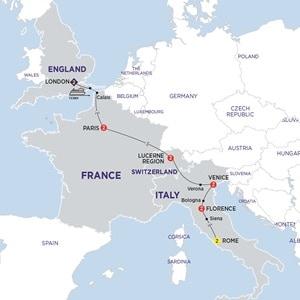 Map for European Delight