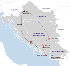 Map for Best of the Balkans Summer 2019