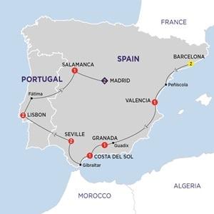 Map for Iberian Explorer Summer 2019