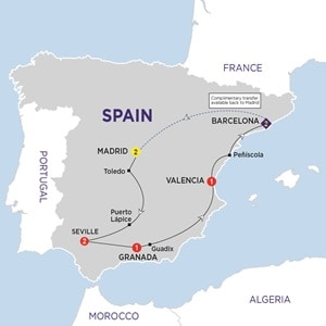 Map for Spanish Experience Summer 2019