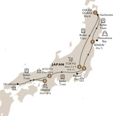 Map for Majestic Japan (Summer 2019) - Luxury Gold