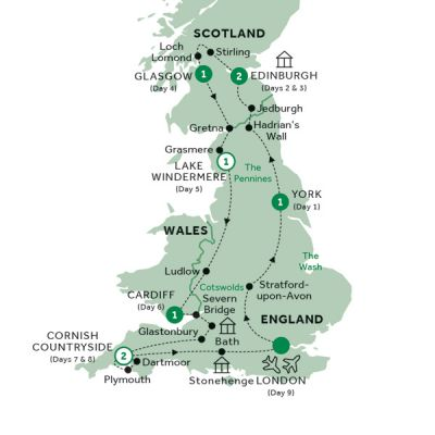 Map for Best of Britain (Preview 2020)