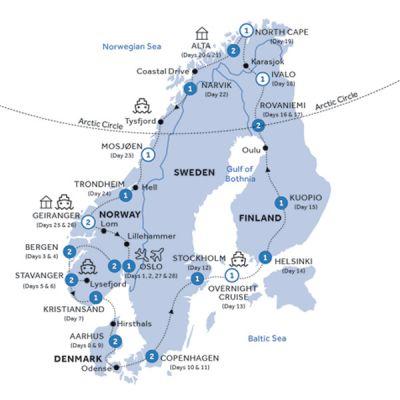 Map for Scandinavian Heritage