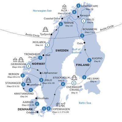 Map for Scandinavian Heritage (Summer 2019)