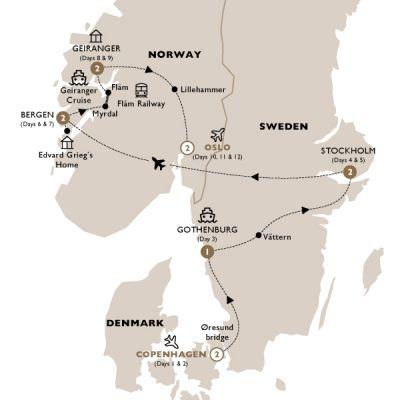 Map for Timeless Scandinavia - Luxury Gold