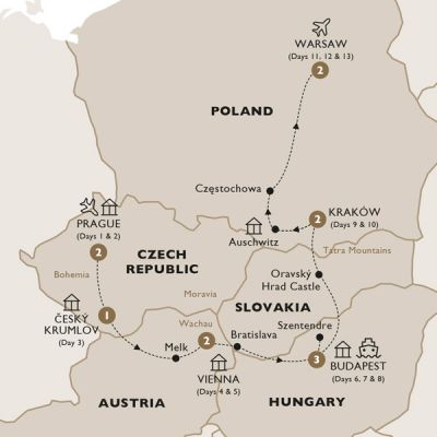 Map for Harmony of Central Europe (Summer 2019) - Luxury Gold