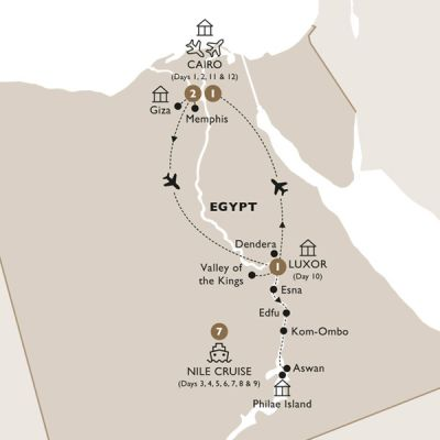 Map for Elegance of the Nile (Summer 2019) - Luxury Gold