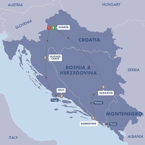 Map for Balkan Delight Summer 2019