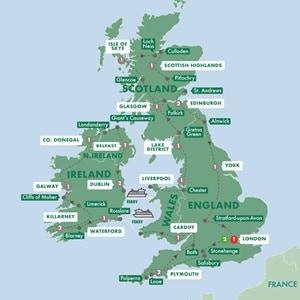 Map for Britain and Ireland Grandeur Summer 2019