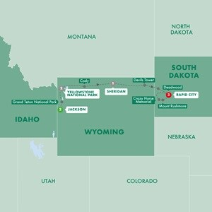 Map for National Parks Wonders