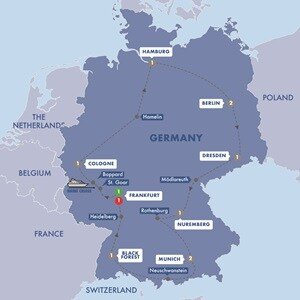 Map for Best of Germany Summer 2019