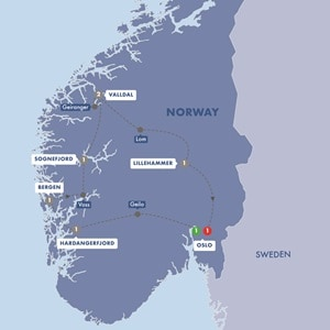 Map for Best of Norway Summer 2019