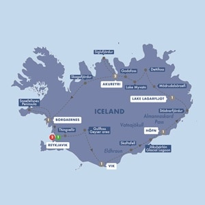 Map for Ultimate Iceland Summer 2019