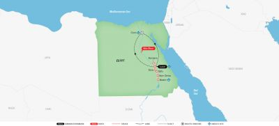 Map for Splendors of Egypt & the Nile 2019 (Round Trip from cairo)