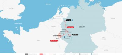 Map for Magnificent Moselle & Rhine 2019 (Cologne to Frankfurt)