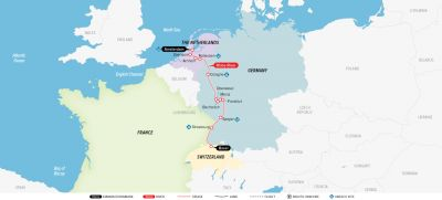 Map for Remarkable Rhine & Historic Holland 2019 (Amsterdam to Basel)